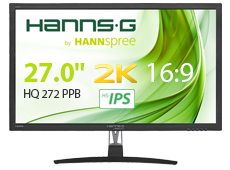 New stylish 27inch Monitor from HANNspree offers affordable WQHD graphic computing